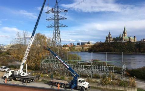 Dismantling of a transmission line Outaouais 2018-04-03 00:00:00